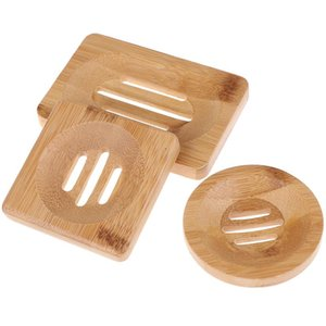Natural Wooden Bamboo Soap Dish Wooden Soap Tray Holder Storage Rack Plate Box Container For Bath Shower Plate Bathroom