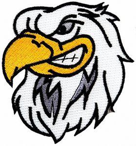 2017 Modische Design Cartoon-heiße Verkaufs-Weißkopfseeadler gestickter Flecken Amerikanischer patriotischer Eisen-On-Vogel-Emblem-freies Verschiffen M3Z3 #