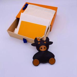 2021 أزياء المفاتيح لطيف الماشية تصميم اليدوية سيارة محفظة أكياس قلادة الجلود سلاسل المفاتيح للجنسين مصمم سلسلة مفتاح مع صندوق وكيس الغبار