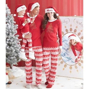 New Family Matching Clothes Cotton Family Christmas Pajamas Family Look Suits Lovely Infant Clothing 2Pcs Christmas Outfits Hot 201104