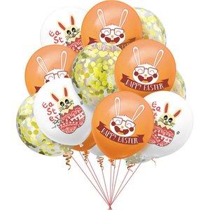 12 Zoll Fröhliche Ostern Kaninchen Cartoon Gedruckt Latex Ballon Festival Party Valentinstag Hochzeit Brithday Schöne Modedekoration G10705