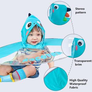 bwkf bbygce Kocotree 귀여운 어린이 UFO가 우산 모자 마법 핸즈프리 비옷 핫 세일 높은 품질 어린이 공룡 우산