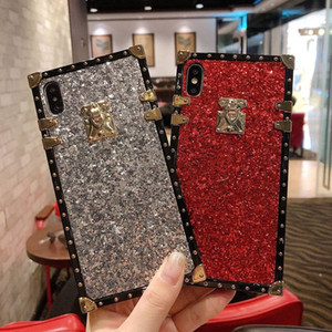 Premium Rhinestone Case Luxury Designer Women Defender Phone Case For iPhone 11 Pro Xr Xs Max 6 7 8 Plus Fashion Shockproof Case