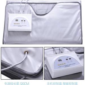 Новая модель 2 зона ель сауна Дальнее инфракрасное тело для похудения сауна одеяло отопление терапия тонкая сумка SPA тело детоксики