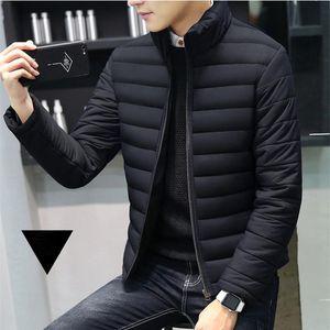 Herren Down Parkas Winterjacke Männer 2021 Marke Casual Warme Mantel Solide Rote Jacken Dicke Parka Für Streifen Outwear Minimalistische Kleidung