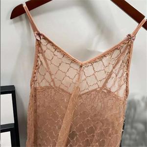 Última carta Mujeres encaje ropa de dormir Clásico Jacquard Lady Nightdress Indoor al aire libre Sexy Transparente Nightclothes Ropa