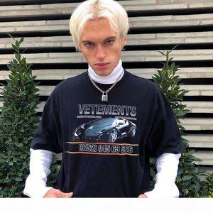 19ss Vetements CAR Printing Fashion T Shirt Summer Breathable Tee Casual Simple Men Women Street Short Sleeve HFLSTX410