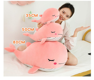 Super Soft Whale Plush Toy Cartoon Animal Fish Stuffed Doll Baby Sleeping Pillow Cushion Kid Girlfriend Christmas Gift