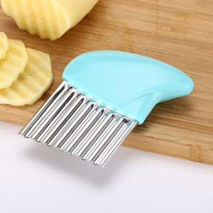 Multi-purpose French fries cutter Stainless steel PP handle wave potatoes knife Creative vegetable shredder kitchen gadgets LX1662