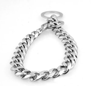 15mm Dogs Training Choke Chain Collars For Large Dogs Pitbull Bulldog Strong Silver Gold Stainless Steel jllntp mx_home