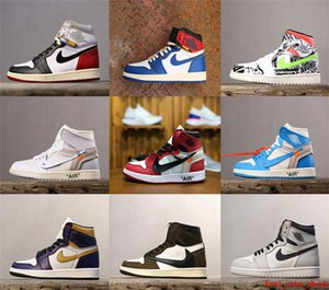 08 di alta qualità dell'Unione nero x 1 UNC scarpa Travis x Futura SB Dunk OW Scotts scarpe sneakers viola corte Off