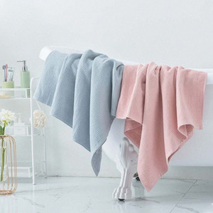 Double Layer Cotton 70x140cm High Quality Bath Towels for Adult Soft Absorbent Household Item Bathroom Quick Dry ubwC#