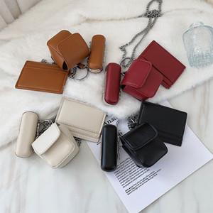 Mini PU Leather Crossbody Bags For Women 2021 Chain Branded Shoulder Handbags Female Travel Cross Body Lux Lipstick Hand Bag Q1230