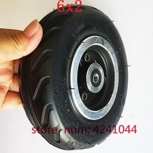"6x2 에어 휠 사용 6 ""타이어 합금 허브 160mm 공압 타이어 전기 스쿠터 F0 공압 휠 트롤리 카트 인플레이션 타이어 1"