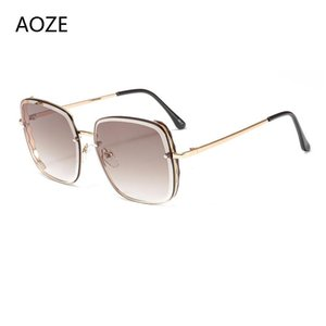 AOZE 2020 classic fashion mach six style cool sunglasses vintage women's brand design sunglasses unisex oculos feminino