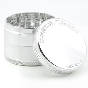 63 milímetros 4pcs Herb Grinders alumínio detector Grinders caso espaço fumo do tabaco de cigarro moagem fumaça moedor de Tabaco