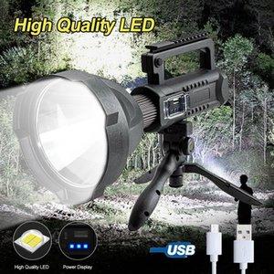 Puissance de travail de travail à LED 200000LM Spotlight Spotlight 4 modes Recharge USB Lanterne de travail portable