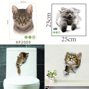 Cj7 PVC Toilet Waterproof Fashion high quality U-shaped Edge Pads Set Removable Bathroom Pattern Wall Stickers Stickers sticker designer