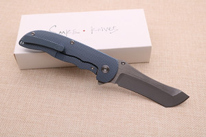 SMKE Bıçakları Özel Norseman Flipper Katlanır Bıçak Saten S90 V Bıçak Mavi Eloksal Titanyum Kolu Taktik Survival Kamp Pocket Bıçak