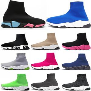 Nuevos zapatos de calcetines de desingeres para mujer para hombre zapatos casuales planos triple claro suela voltio graffiti zapatillas de deporte zapatillas de zapatillas de zapatillas de plataforma de diseño Plataforma deportiva.