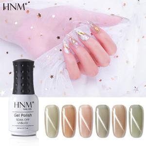 HNM 8ML Glacier Gray Cat Eyes UV Gel Nail Polish Soak Off LED Lamp Lacquers Starry Sky Jade Effect Varnish Base Top Coat Primer