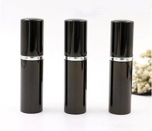 Bouteille de remplissage Noir Couleur 5ml 10 ml Mini Portable Portable Rembourrable Atomizer Bouteilles de pulvérisation Bouteilles vides Conteneurs cosmétiques