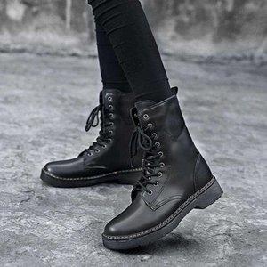 Femmes Bottines plate-forme Mode Confort chaud Chaussures Femme d'hiver épais Bureau Bas Lady Casual Daily Chaussures Taille Plus T6