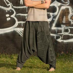 Loozykit New Jogger Pantalon Pantalones Pantalones Hombres Largo Flojo Impresión Casual Pantalones Hombres HIP Street Use Pantalones Casuales Imprimir1
