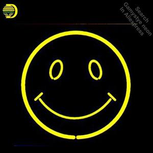 علامات النيون للابتسامة الوجه النيون المصابيح شروق الشمس والقمر أنبوب الزجاج الحقيقي الديكور جدار نيون ضوء صانع لافتة دروبشيبينغ