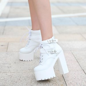Fashion Winter Super Thick Bottom Boots Sexy High-heeled Women's Boots Nightclubs Warm Thick Boot