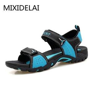 Mixidelai Açık Moda Erkekler Sandalet Yaz Erkekler Ayakkabı Rahat Ayakkabılar Nefes Sahil Sandalet Sapatos Masculinos Artı Boyutu 35-46 Y200107