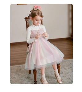 top quality kids clothes girls dresses autumn winter dress children party dress free shippingCKXR