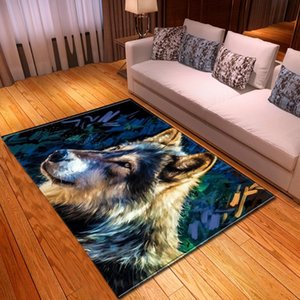 Animal wolf 3D Printed Carpets Child Bedroom Play Tent Area Rug Home Decor Carpet Kids Room Crawl Floor Mats Baby Toys Gift Rugs