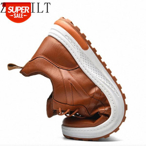 2021New Genuine Leather Men Casual Shoes Men Loafers Jogging Outdoor Sneakers For Male Footwear Flat Office Dress Adult Footwear #1c4I