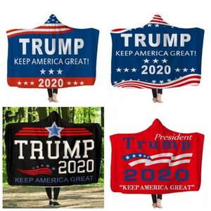 Hooded winter Sherpa Fleece Trump Blankets 3D Soft Warm Throw Blanket with Hood DHC1066