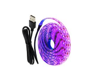 5V USB LED Light Strip 1M 2M glace rose bleu chaud Fond blanc RVB 2835 TV éclairage Decoracion Guirlande lumineuse