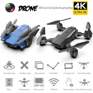 4K Mini Drone Aéreo WiFi Imagen Transmisión Four Exis Aircraft Fixed Height Dobling Long Resistencia Control Remoto Avión Toy1