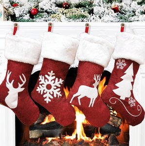 Christmas Stockings Decor Christmas Trees Ornament Party Decorations Santa Christmas Stocking Candy Socks Xmas Gifts Bag