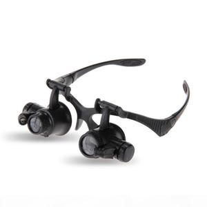 Headband Eyewear Watch Repair Watchmaker Magnifier Loupe Jeweler Magnifying Glasses Tool Set With Lamp LED Light 10X 15X 20X 25X