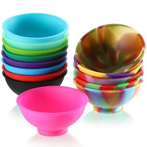 Mini Silicone Bowls Suave Bebê flexível de alimentação bacia Prep Sirva taças para condimentos Dips Snacks DIY Artesanato Bowls IIA882