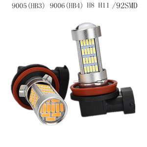 1pc 9005 3 9006 4 H8 H11 9145 Ice blue Running Light Bulbs 92Chips Led Projector 92SMD DC 12V