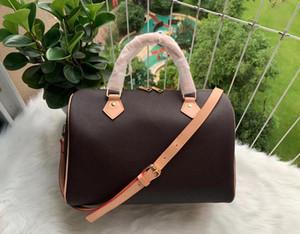35Women haberci çantası Klasik Stil Moda Bayraklar çanta kadın çantası omuz çantaları Lady Totes Omuz Askı, Toz Torbalı Speedy 35cm handbags
