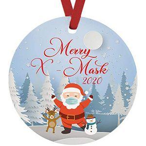 Santa Claus Snowman Decoration Pendants 2020 Christmas Tree Decor Ornaments Quarantine Cartoon Xmas Decor Hangings Party Hot Sale 4cz G2