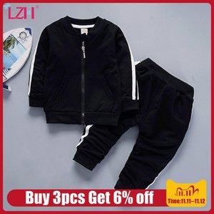 LZH Säuglings-Kleidung 2020 neue Herbst-Winter-beiläufige Baby-Klage für Baby-Kleidung zwischen Jacke und Hose Outfits 2ST Set Kinderkleidung