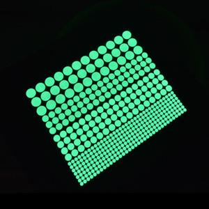 Soggiorno Decorazione della casa Vinyl Glow Up Wall Sticker Bambini Bambini Bambini Star Circolo Circolo Star Circolo Dot Bambina Bambina Luminoso Adesivi Carta Adesivi Decalcomania Nuovo 3 3pd L2