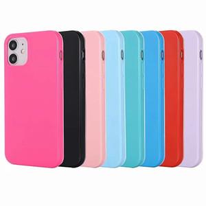 Caso suave de TPU para el nuevo Iphone 12 Mini Pro 11 Pro Max caramelo brillante sólido cristalino de la cubierta colorida de la piel de silicona de moda del teléfono de Bling del gel de goma