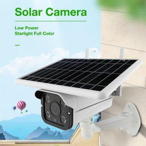 الطاقة الشمسية واي فاي كاميرا في الهواء الطلق 2.4G شبكة لاسلكية CCTV مع كشف الحركة IP66 للماء