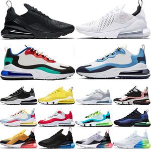 max 270 React الرجال النساء احذية الجري Bauhaus ثلاثية أسود أبيض بصري Oreo العنب مبيض المرجان الرجال المدربين أحذية رياضية مقاس 36-45