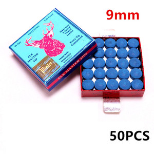 Fox Smiling 50PCS 9 10mm Billiard Pool Cue Tips M Hardness Billiard Snooker Cue Stick Tip Billiard Cue Accessories