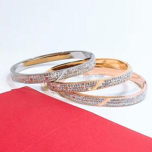 19 New fashion luxury designer set drill jewelry charm bracelet 316L Stainless steel women bracelet and original box free shipping